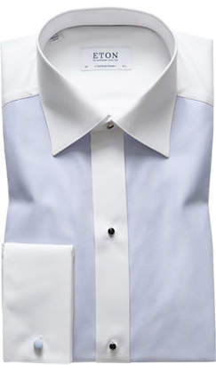 Eton Men's Bib-Front Contemporary-Fit Formal Dress Shirt