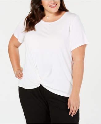 Style&Co. Style & Co Plus Size Twist-Hem T-Shirt