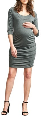 Women's Maternal America Ruched Maternity Dress $124 thestylecure.com