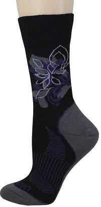 Dickies Womens Wool-Blend Floral Crew Socks