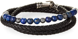 Lapis Jean Claude Leather & Wrap Bracelet
