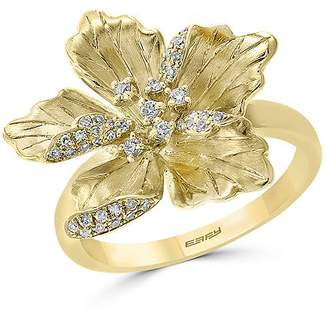 Bloomingdale's Diamond Flower Ring in 14K Textured Yellow Gold, 0.20 ct. t.w. - 100% Exclusive