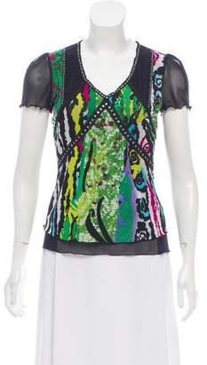 Alberto Makali Embellished Short Sleeve Top