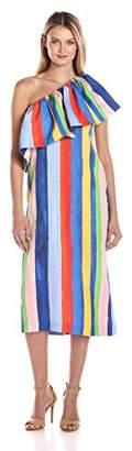 Mara Hoffman Women's One Shoulder Ruffle Dress