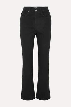 Eve Denim Juliette High-rise Straight-leg Jeans - Black