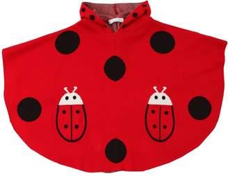 Stella McCartney Ladybugs Hooded Jacquard Knit Cape