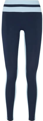 Vaara - Flo Tuxedo Striped Stretch-jersey Leggings - Navy