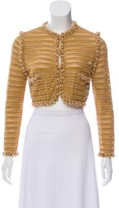 Chanel Embellished Cropped Cardigan