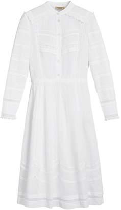 Burberry english lace detail shirt dress