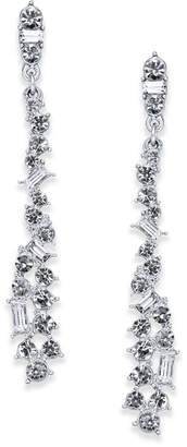 INC International Concepts I.n.c. Silver-Tone Crystal Linear Drop Earrings, Created for Macy's