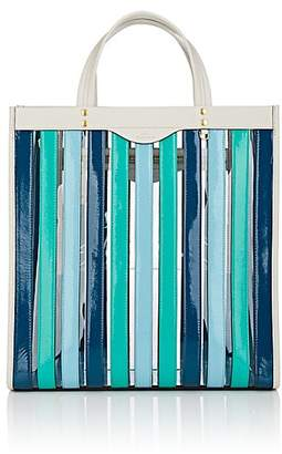 Anya Hindmarch Women's Striped Patent Leather Tote Bag