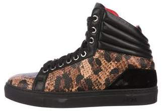 MCM Leather High-Top Sneakers