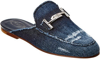 Tod's Double T Denim Mule