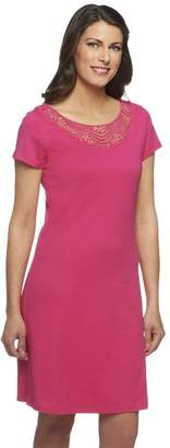 Liz Claiborne New York Petite Knit Dress with Lace Detail