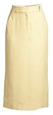 Lafayette 148 New York Women's Milani Linen High-Waist Midi Skirt