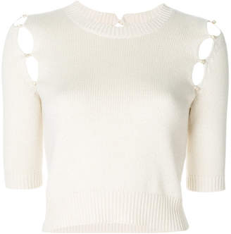 Sonia Rykiel short-sleeve knitted top