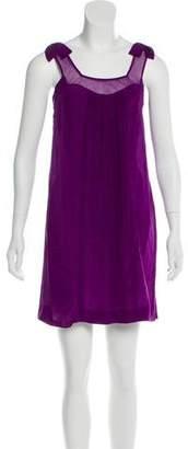 Rebecca Taylor Tie Shoulder Silk Dress
