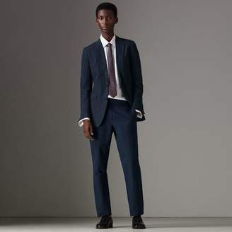 Burberry Slim Fit Pinstripe Ramie Cotton Suit