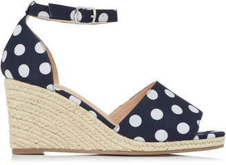 Dahlia Long Tall Sally LTS Two Part Espadrille Wedge