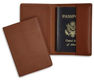 ROYCE New York Leather RFID-Blocking Protective Passport Case