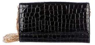 Alexander McQueen Embossed Leather Wallet On Chain