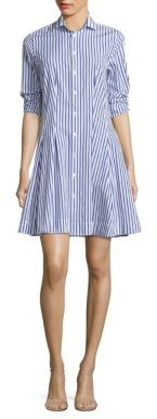 Polo Ralph Lauren Pleated Cotton Poplin Shirtdress $165 thestylecure.com