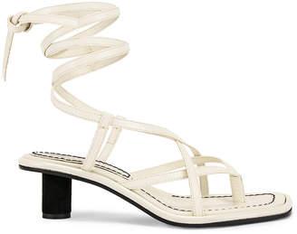 Proenza Schouler Gladiator Sandals in Ecru | FWRD