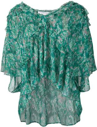 IRO loose printed blouse