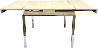 One Kings Lane Vintage Wood & Chrome Expandable Table - Jacki Mallick Designs