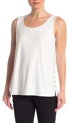 DKNY Button Side Sleeveless Top