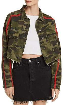 Bloomingdale's Sunset & Spring Sunset + Spring Camo Cropped Denim Jacket - 100% Exclusive