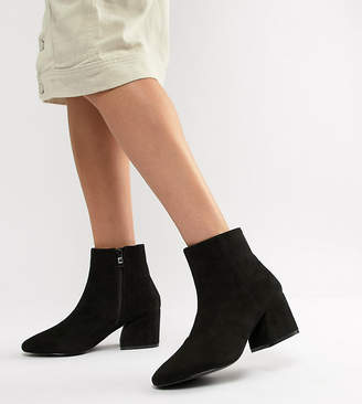 Raid Wide Fit RAID Wide Fit Black Heeled Ankle Boots