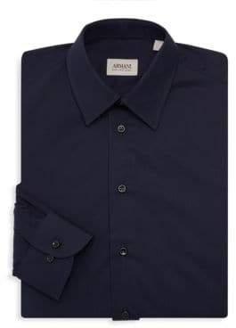 Giorgio Armani Solid Dress Shirt