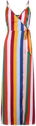 Dorothy Perkins Womens **Girls On Film Multi Colour Wrap Maxi Dress