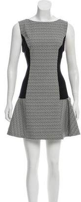 Alice + Olivia Sleeveless Ikat Print Dress