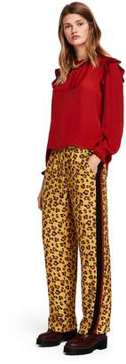 Scotch & Soda Wide Leg Leopard Print Trousers
