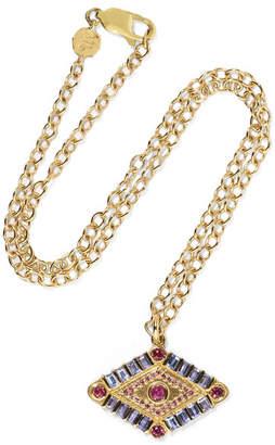 Marlo Laz - Shaman's Eye 14-karat Gold, Tanzanite And Garnet Necklace