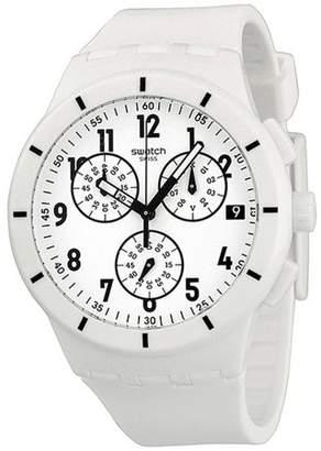 Swatch Twice Again White Unisex Watch SUSW402