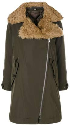 Moncler shearling collar coat