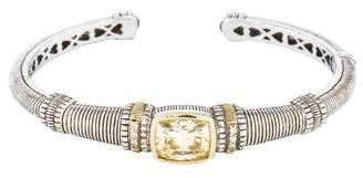 Judith Ripka Canary Crystal & Diamond Kick Cuff Bracelet