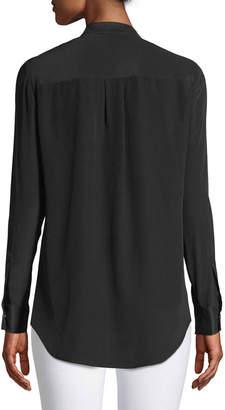 Go Silk Studded Silk Blouse