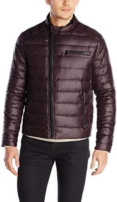Kenneth Cole New York Men's Asymmetric Down Moto Jacket