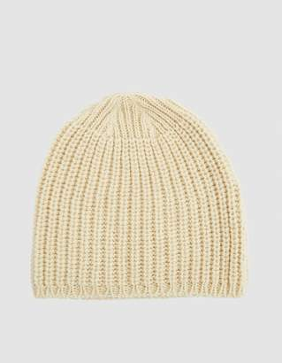 Our Legacy Knitted Wool Hat in Ivory