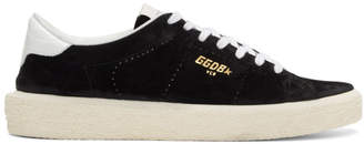 Golden Goose Black Suede Tennis Sneakers