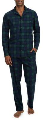 Nautica Two-Piece Fleece Blackwatch Pajama Set