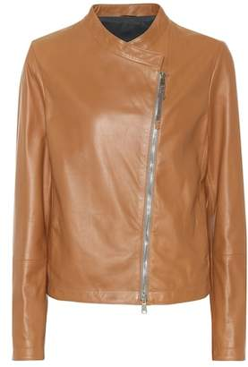 Brunello Cucinelli Nappa leather biker jacket