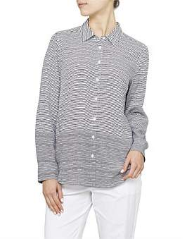David Jones Stripe Drape Button Shirt