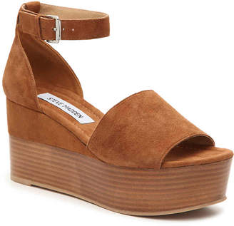 2d794b6210c Steve Madden Brown Wedge Heel Women s Sandals - ShopStyle