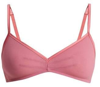 Araks Orli cotton-crepe triangle bra