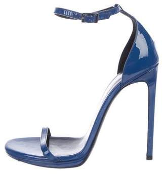 Saint Laurent Patent Leather Strapped Sandals